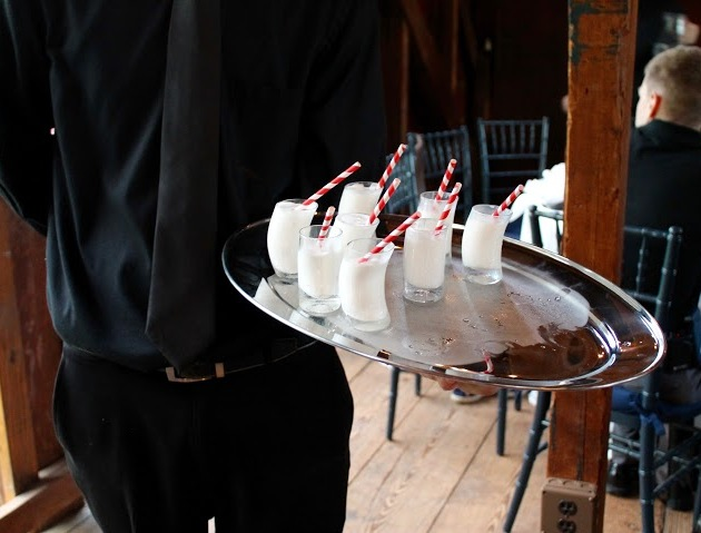 Milkshakes, passed service, Stewart Wedding, May 2016