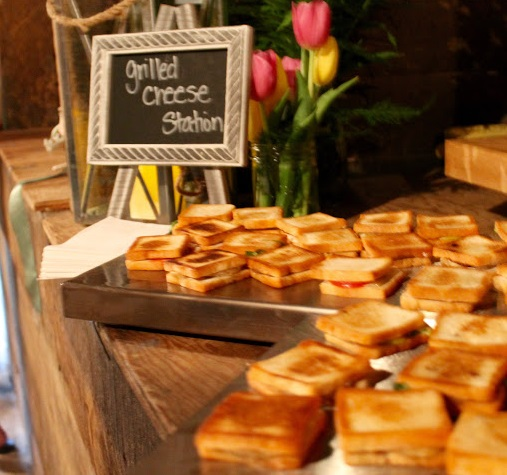 Grilled Cheese Station, Stewart Wedding May 2016